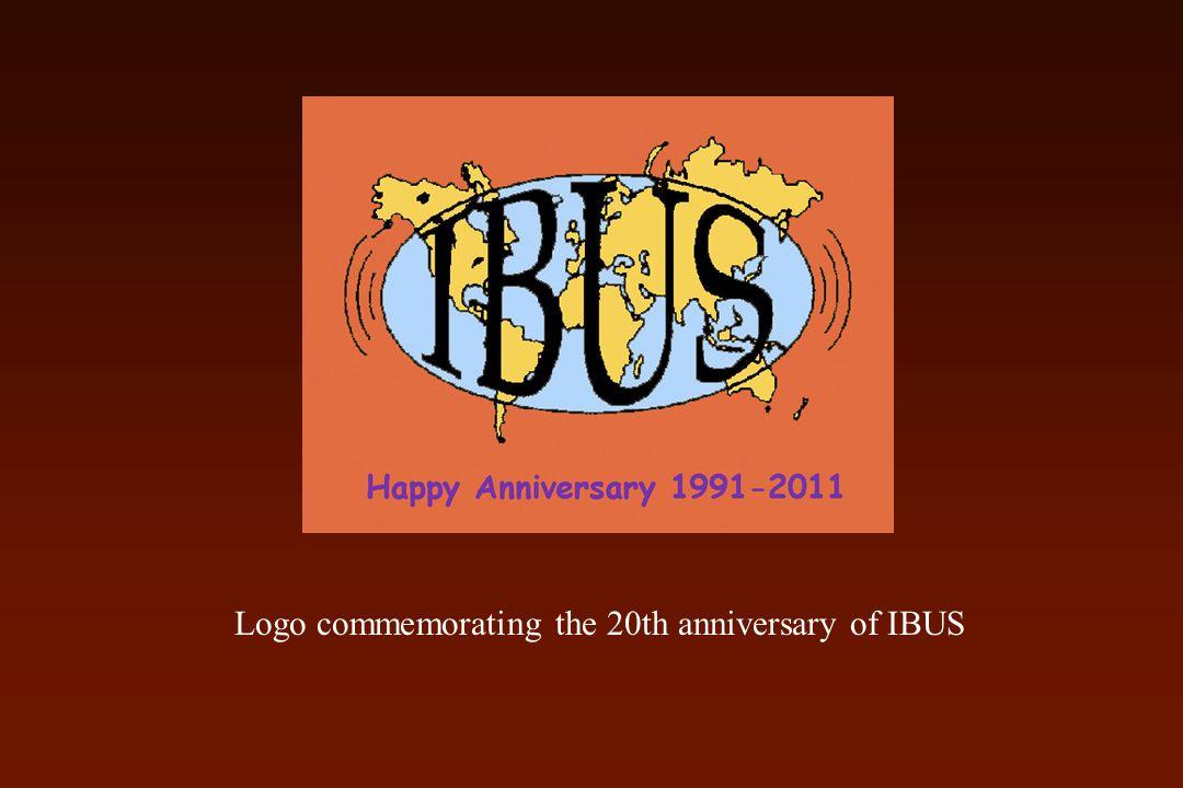Logo commemorating the 20th anniversary of IBUS
