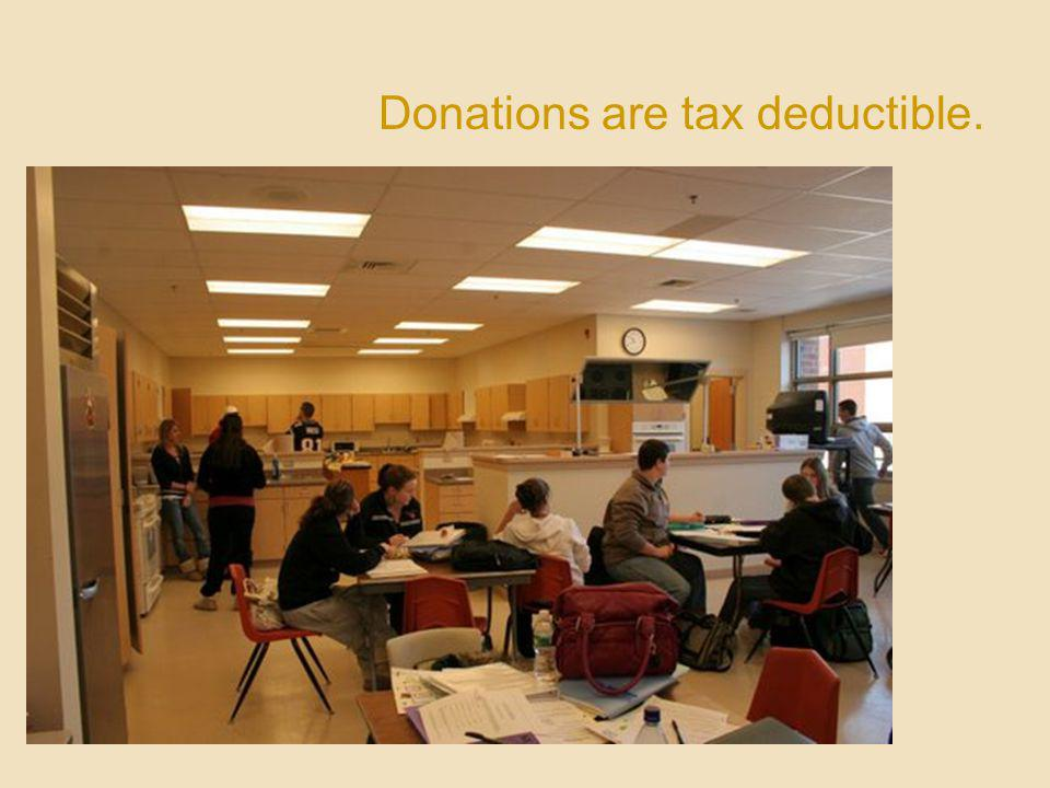 Donations are tax deductible.
