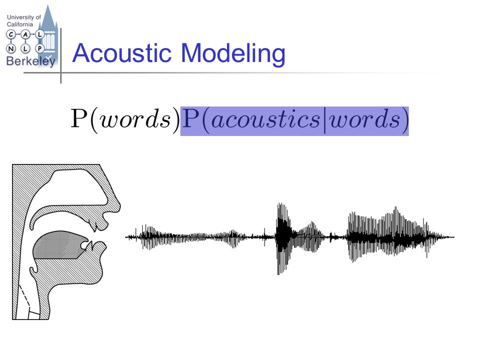 Acoustic Modeling