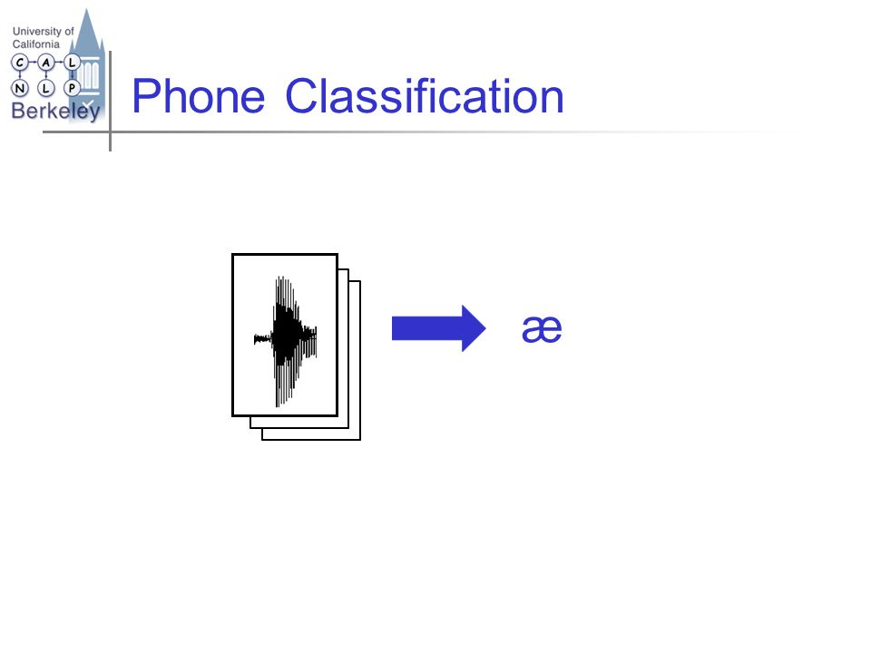 HMMs for Phone Classification