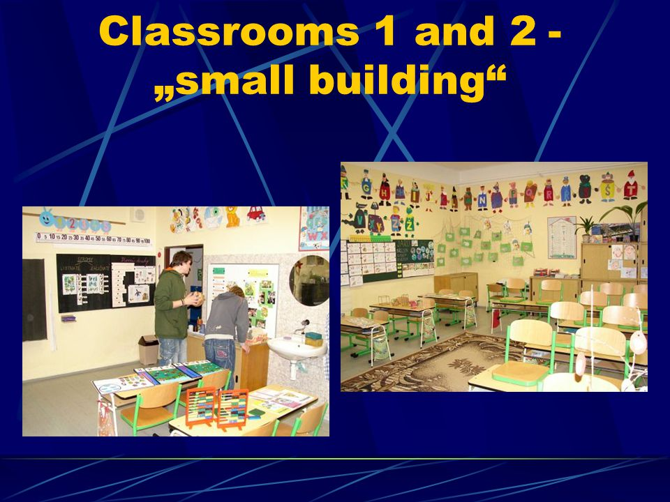 "Classrooms 1 and 2 - ""small building"