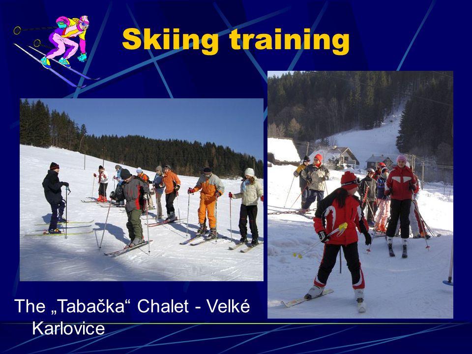 "Skiing training The ""Tabačka Chalet - Velké Karlovice"