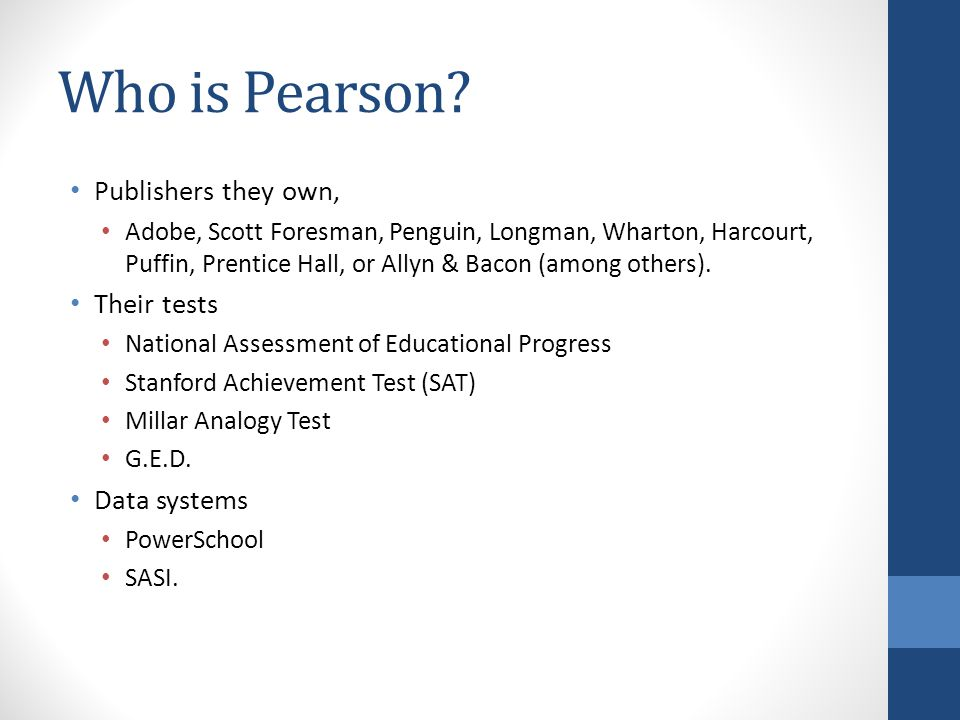 Who is Pearson.