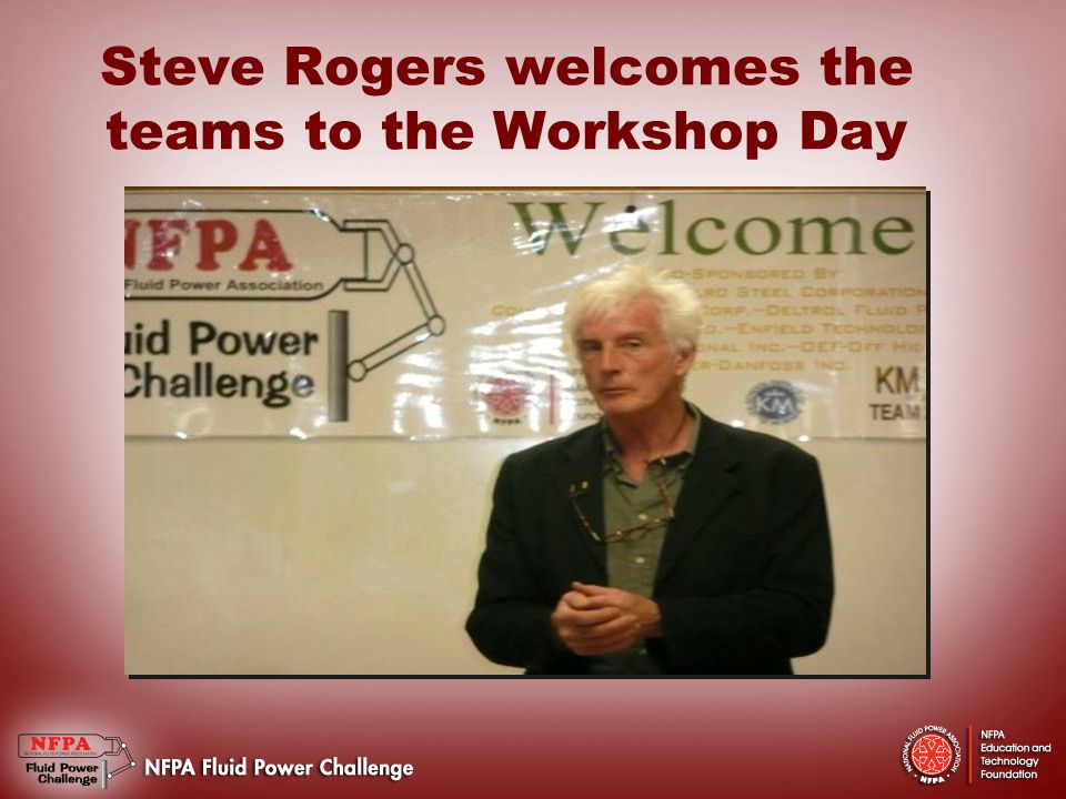Steve Rogers welcomes the teams to the Workshop Day