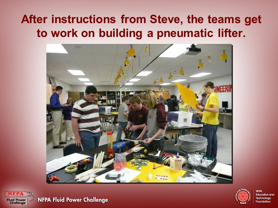 Hmong American Peace Academy Team (HAPA Heroes) build their pneumatic lifter