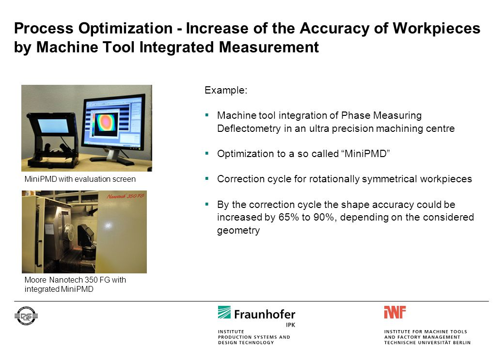 Process Optimization - Increase of the Accuracy of Workpieces by Machine Tool Integrated Measurement Example:  Machine tool integration of Phase Meas