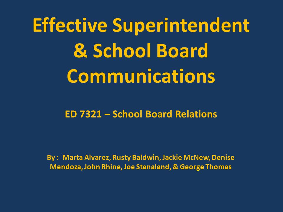 Key Point #8 Periodically review the impact of your communication plan with your board members.