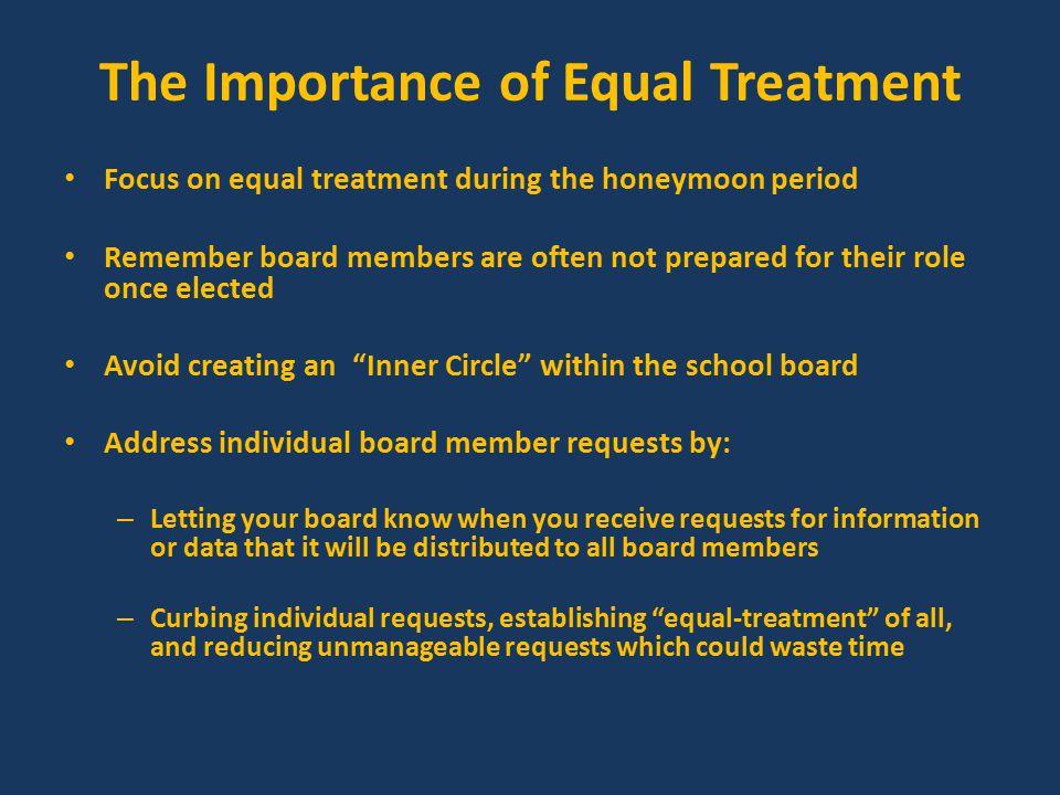 Equal Treatment-Unequal.