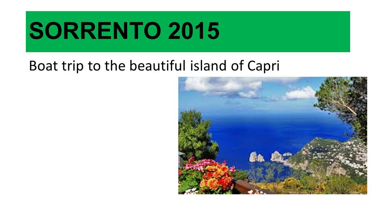 SORRENTO 2015 Boat trip to the beautiful island of Capri