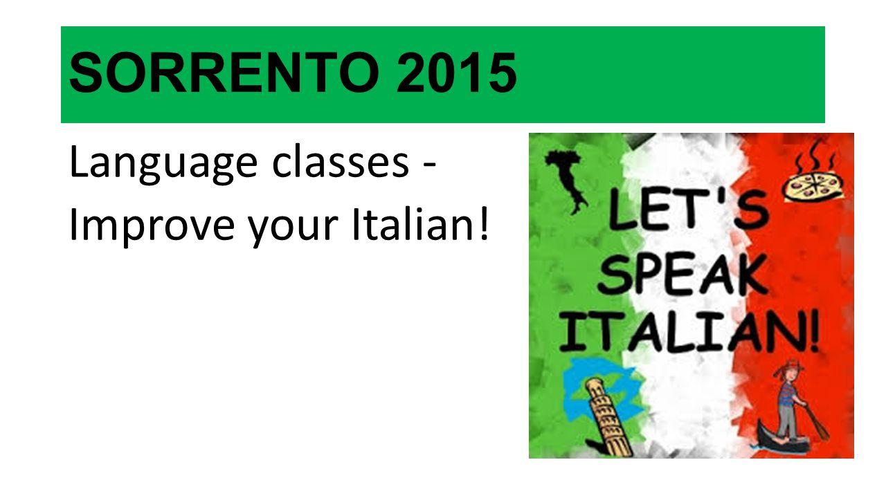SORRENTO 2015 Language classes - Improve your Italian!