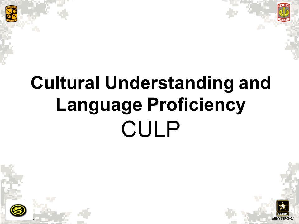 Cultural Understanding and Language Proficiency CULP