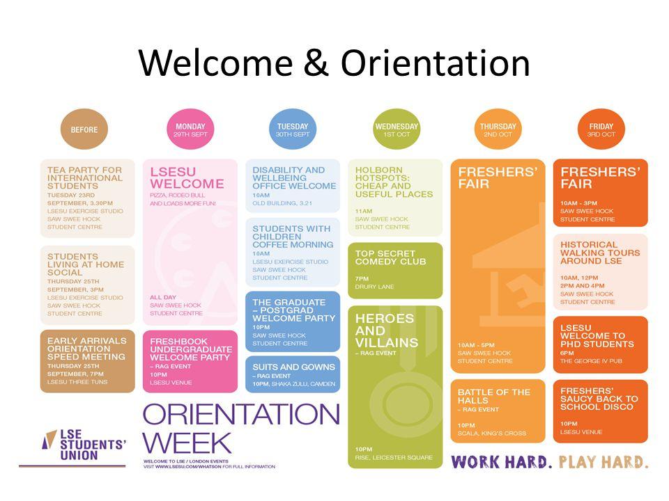 Welcome & Orientation