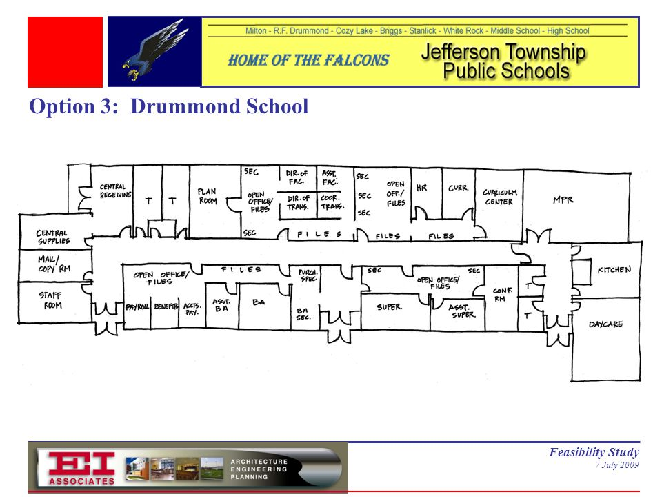 Feasibility Study 7 July 2009 Option 3: Drummond School
