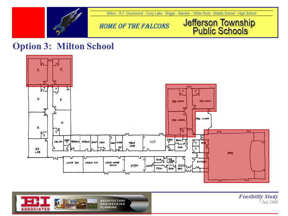 Feasibility Study 7 July 2009 Option 3: Milton School