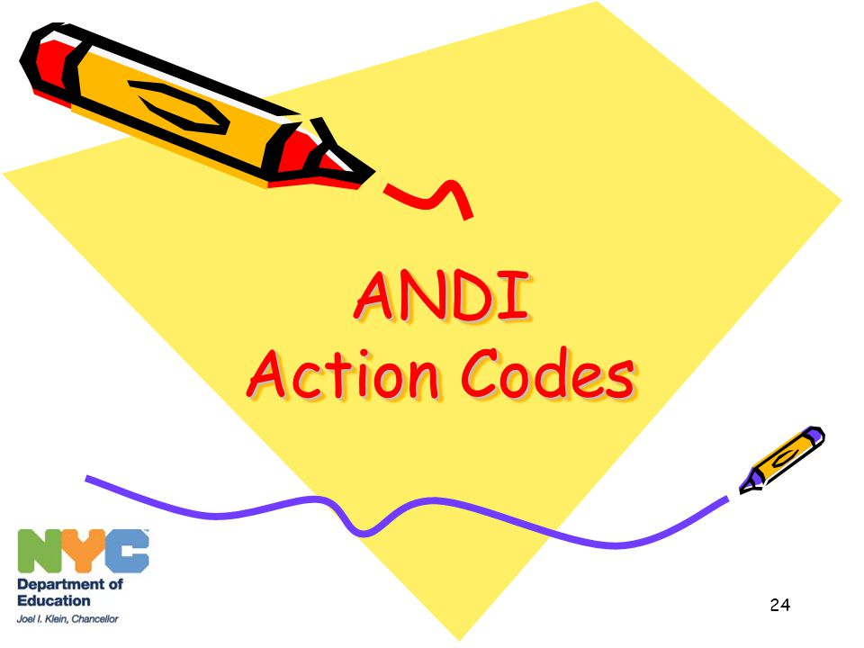 24 ANDI Action Codes