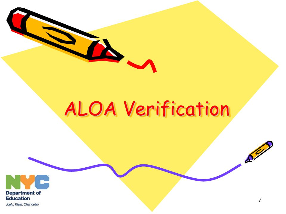 7 ALOA Verification