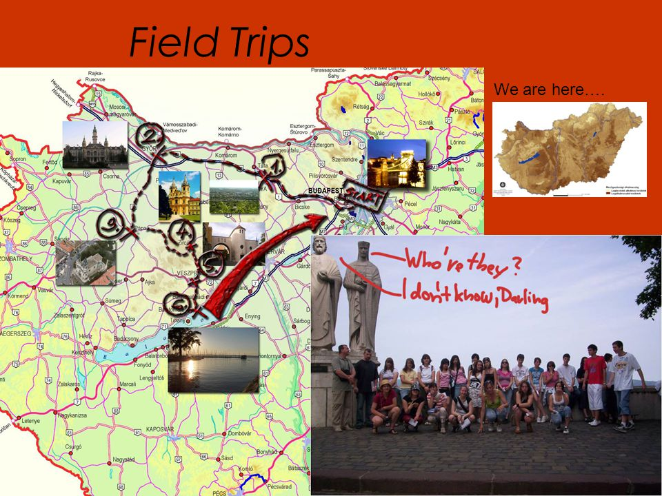 Field Trips We are here….
