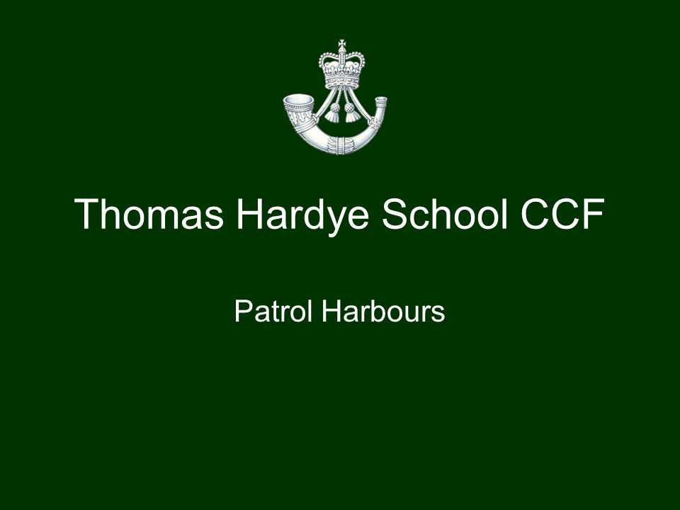A patrol harbour is a position established to provide security when a patrol halts for an extended period.