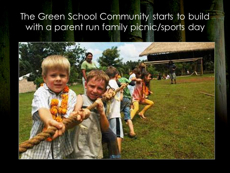 The Green School Community starts to build with a parent run family picnic/sports day
