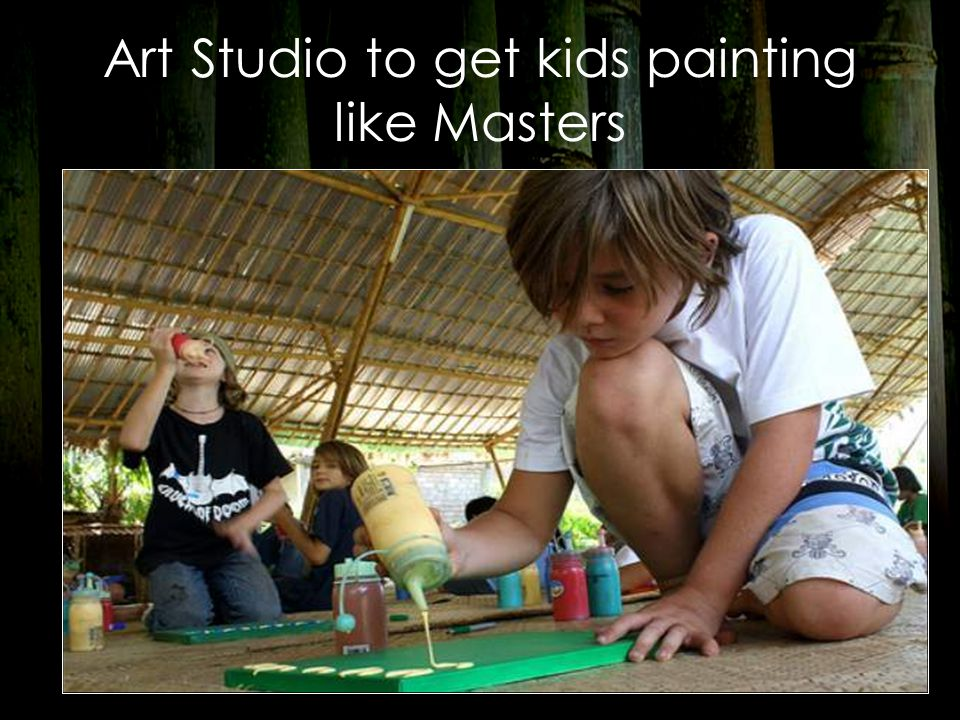 Art Studio to get kids painting like Masters