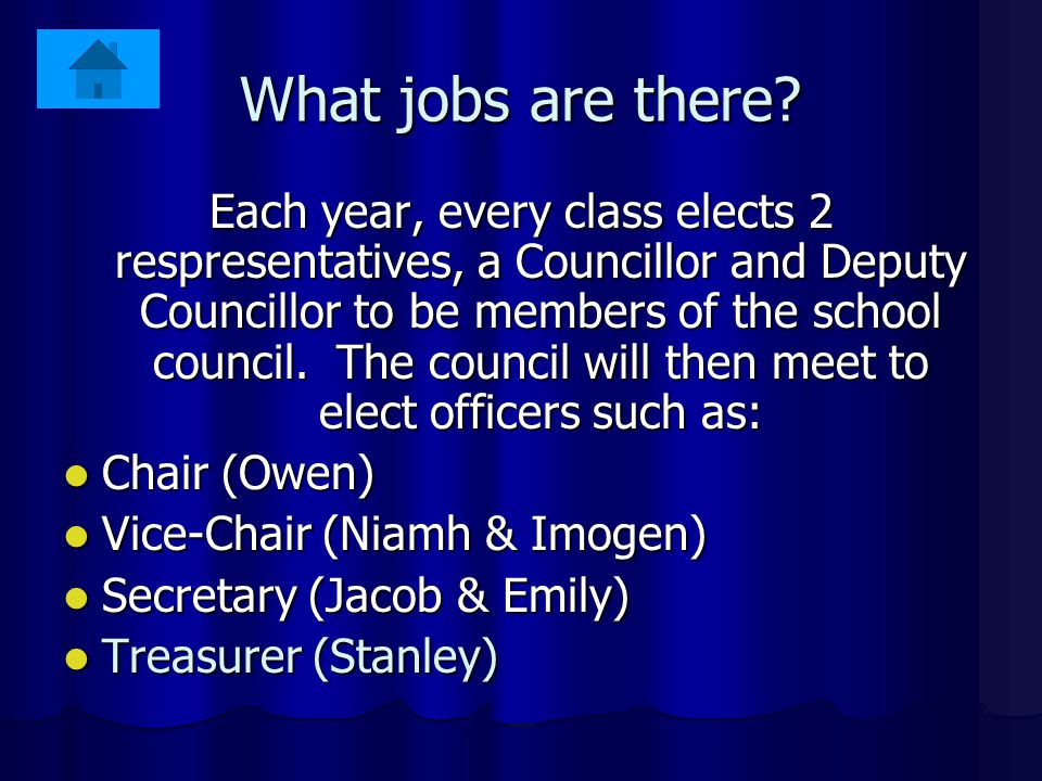What makes a good Councillor? A good school council is one that represents the views of all children and gets things done. These are some of the thing