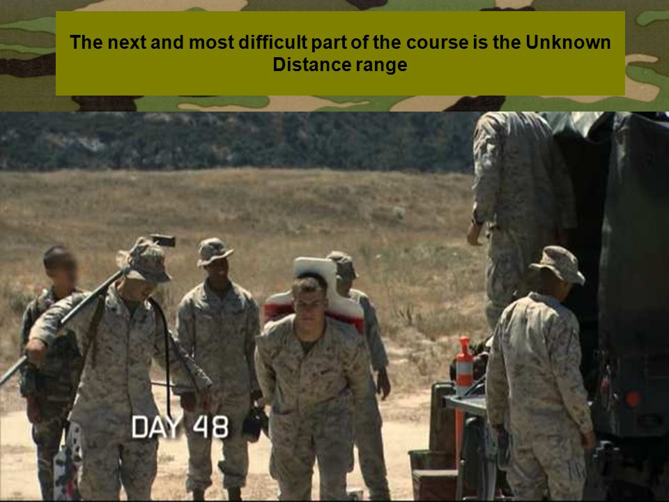The next and most difficult part of the course is the Unknown Distance range