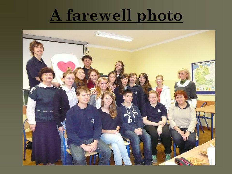 A farewell photo