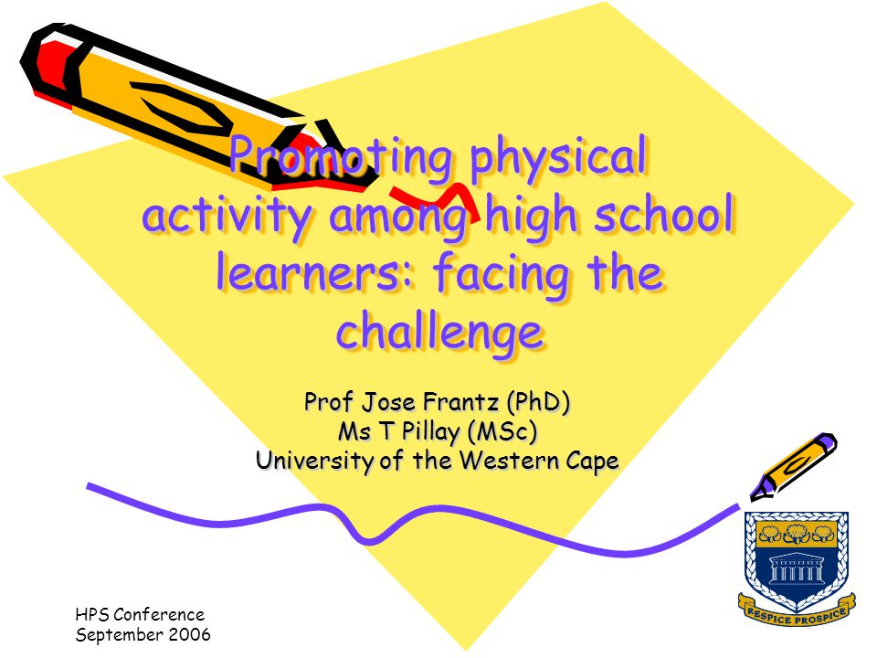 HPS Conference September 2006 Content of presentation Background –Health Promoting schools –Physical activity and physical education intervention in schools –Highlighting the challenges Aim of the study Methodology Results Conclusion