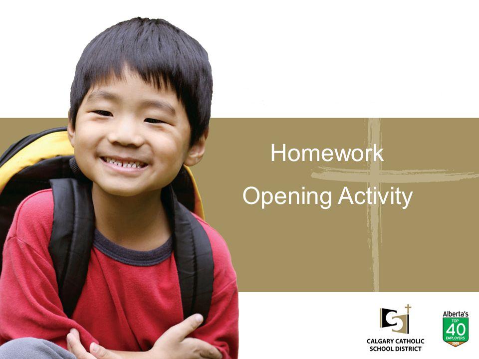 Homework Opening Activity