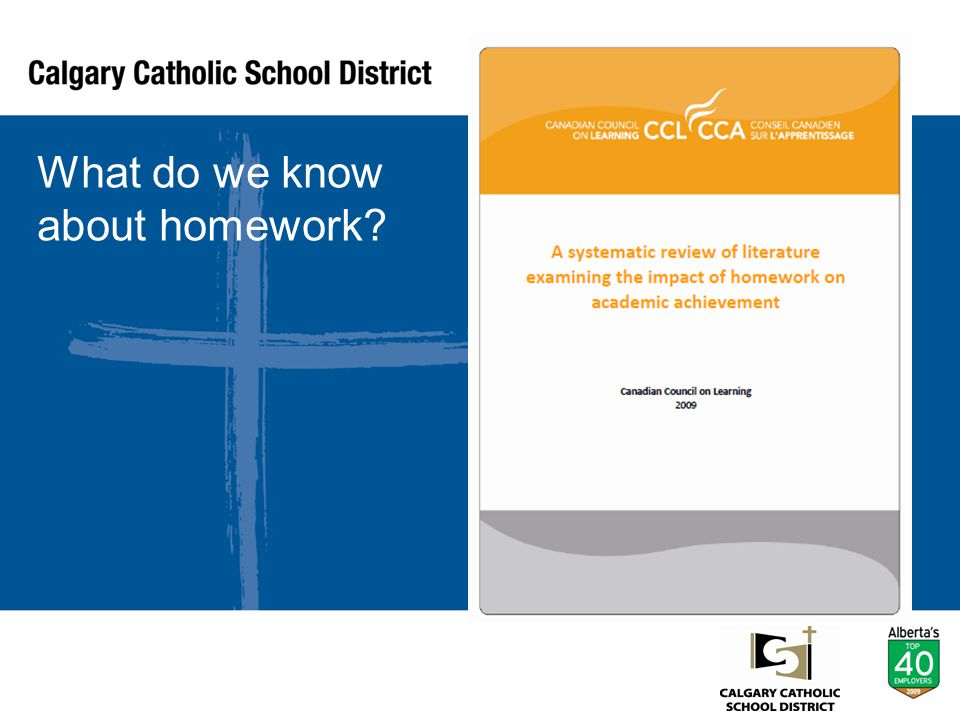 What do we know about homework?