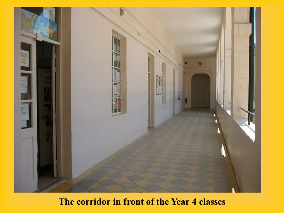 The corridor in front of the Year 4 classes