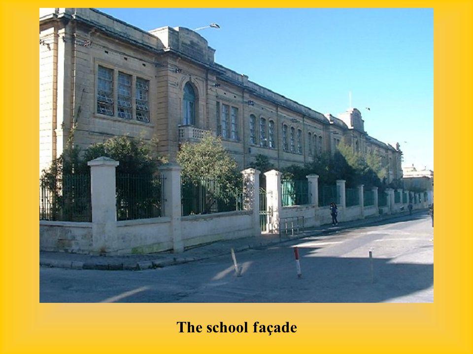 The school façade