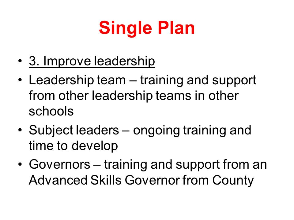 Single Plan 3.