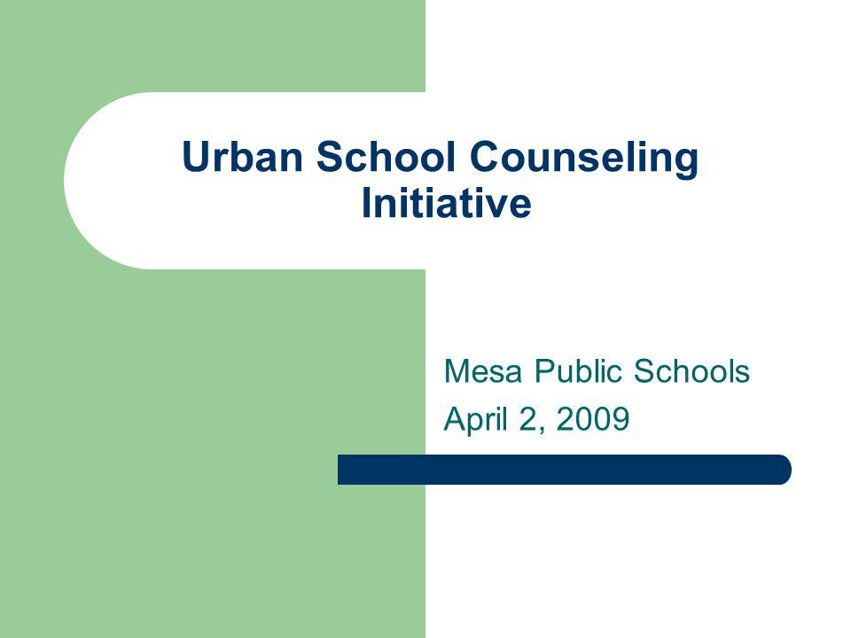 Urban School Counseling Initiative Mesa Public Schools April 2, 2009