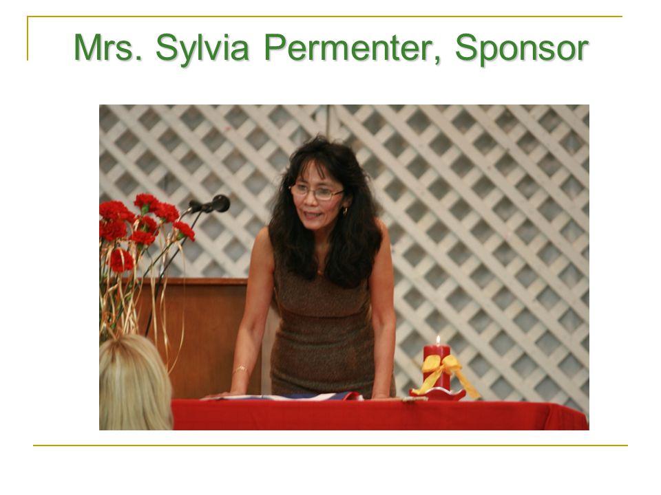 Mrs. Sylvia Permenter, Sponsor