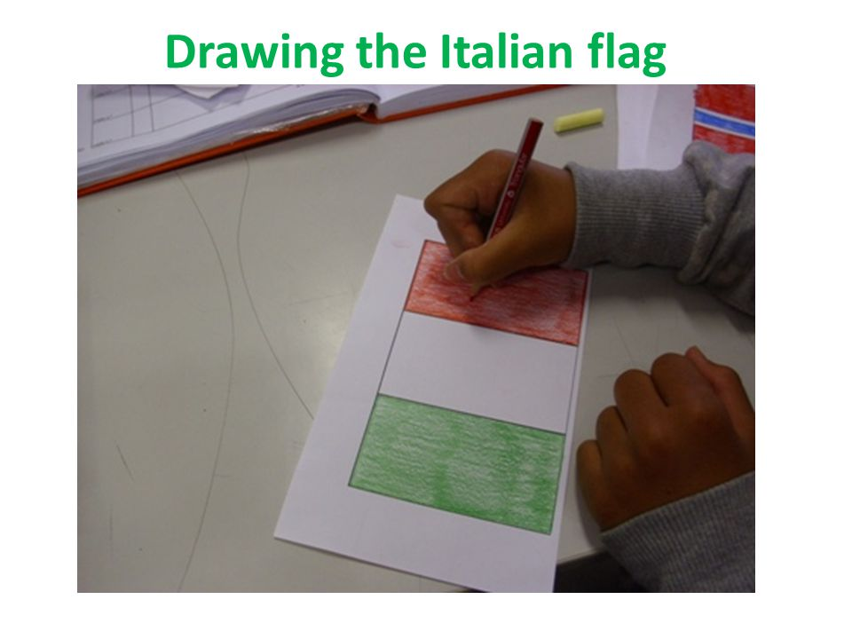 Drawing the Italian flag