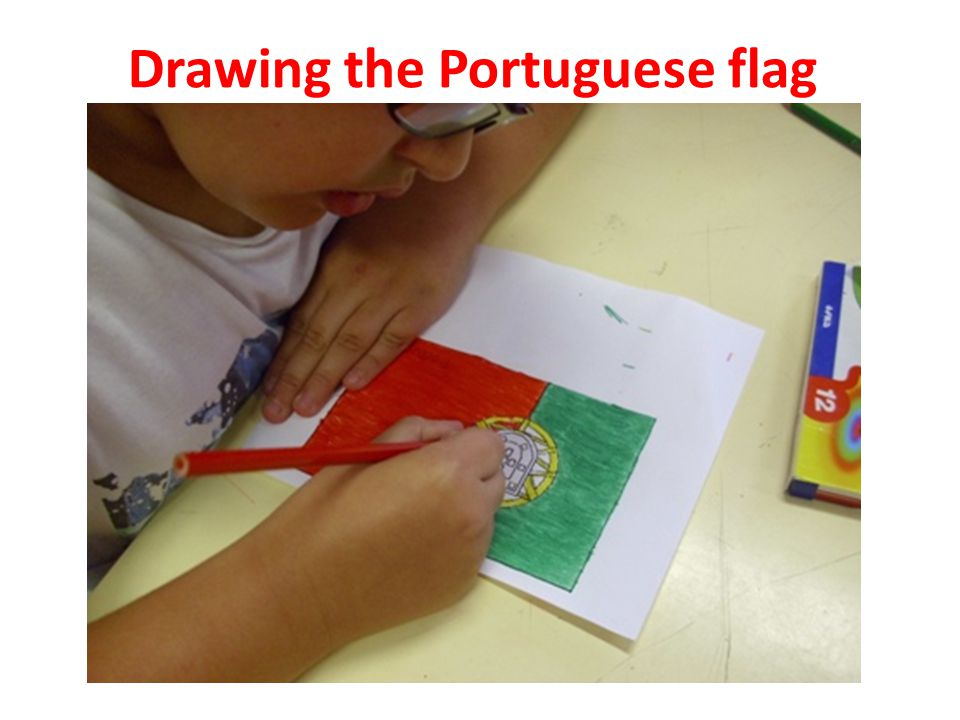 Drawing the Portuguese flag