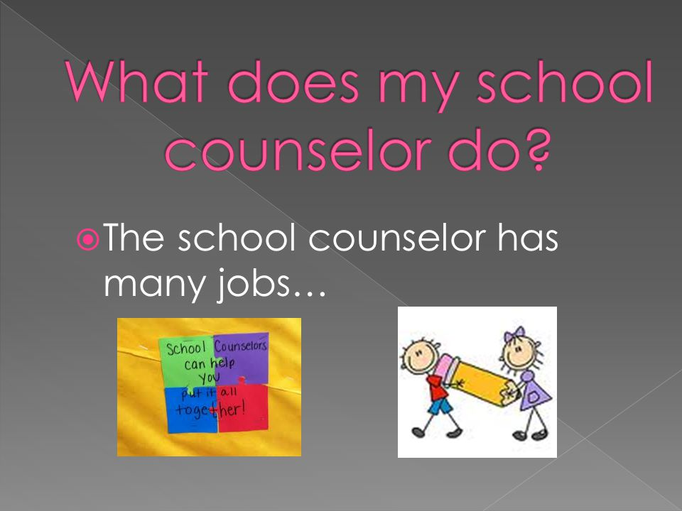  The school counselor has many jobs…