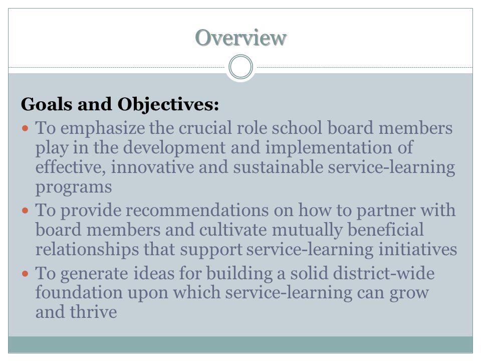 Role of the School Board School Board Interaction Activity: 1.