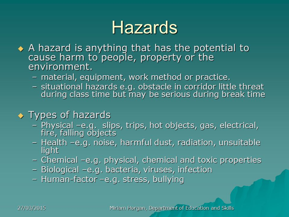 27/03/2015 Miriam Horgan, Department of Education and Skills Shelf Lives of Chemicals   Many chemicals, e.g.