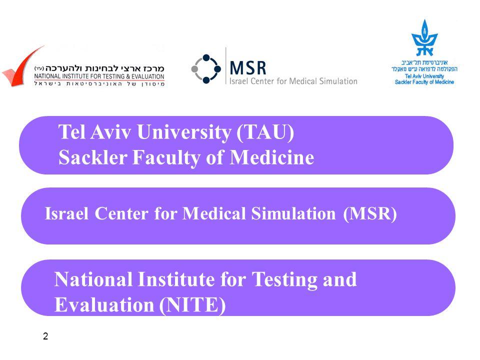 2 Tel Aviv University (TAU) Sackler Faculty of Medicine Israel Center for Medical Simulation (MSR) National Institute for Testing and Evaluation (NITE