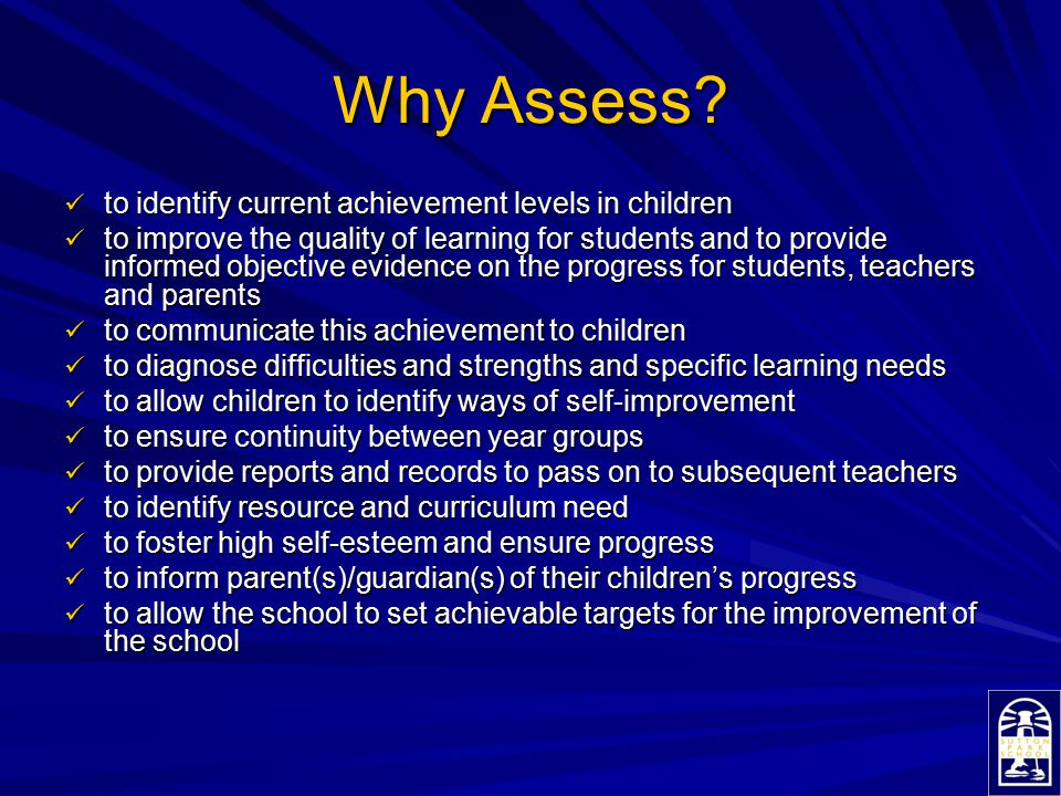 Forms of Assessment Forms of Assessment Assessment traditionally falls into four categories: Formative, Summative, Diagnostic and Evaluative.