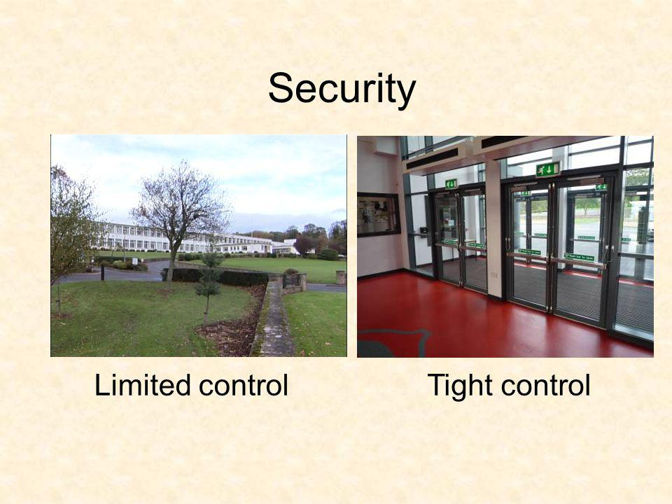 Security Limited controlTight control