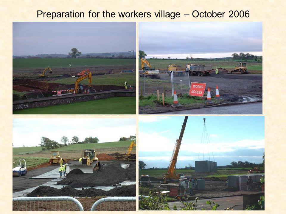Preparation for the workers village – October 2006