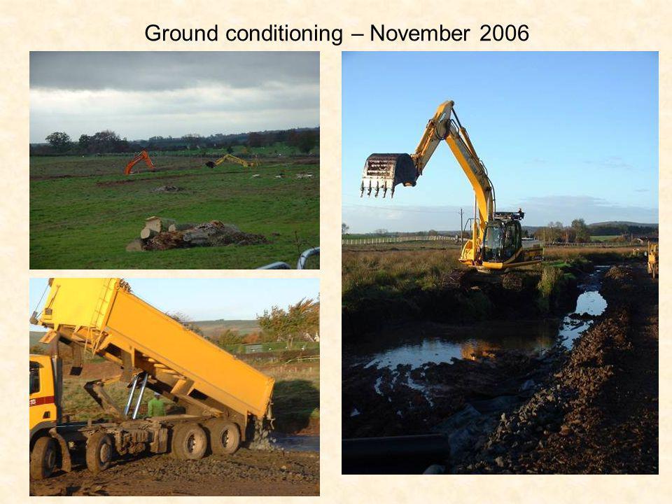 Ground conditioning – November 2006