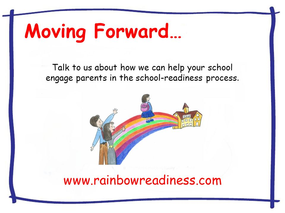 Moving Forward… Talk to us about how we can help your school engage parents in the school-readiness process.