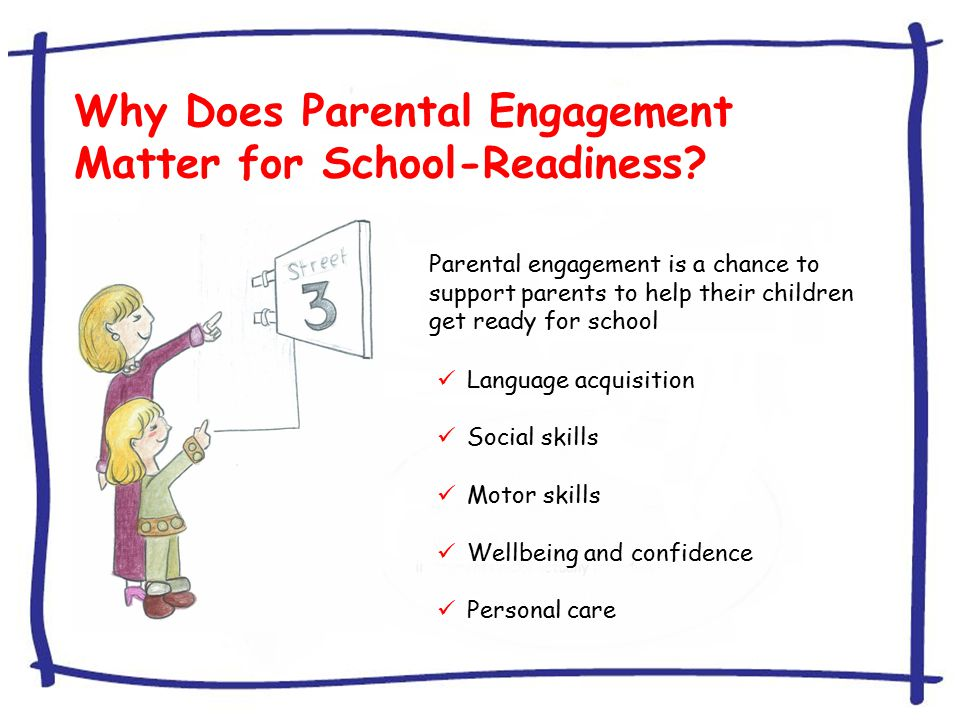 Why Does Parental Engagement Matter for School-Readiness.