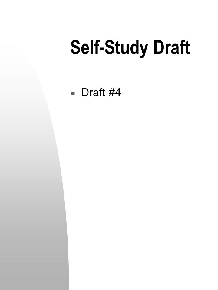 Self-Study Draft Draft #4