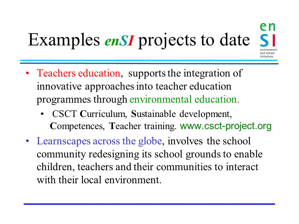 Tools for ESD schools A guide for teachers involved in school partnerships and school networks that are considering the use of exchange and dialogue amongst schools for school development through Environmental Education.