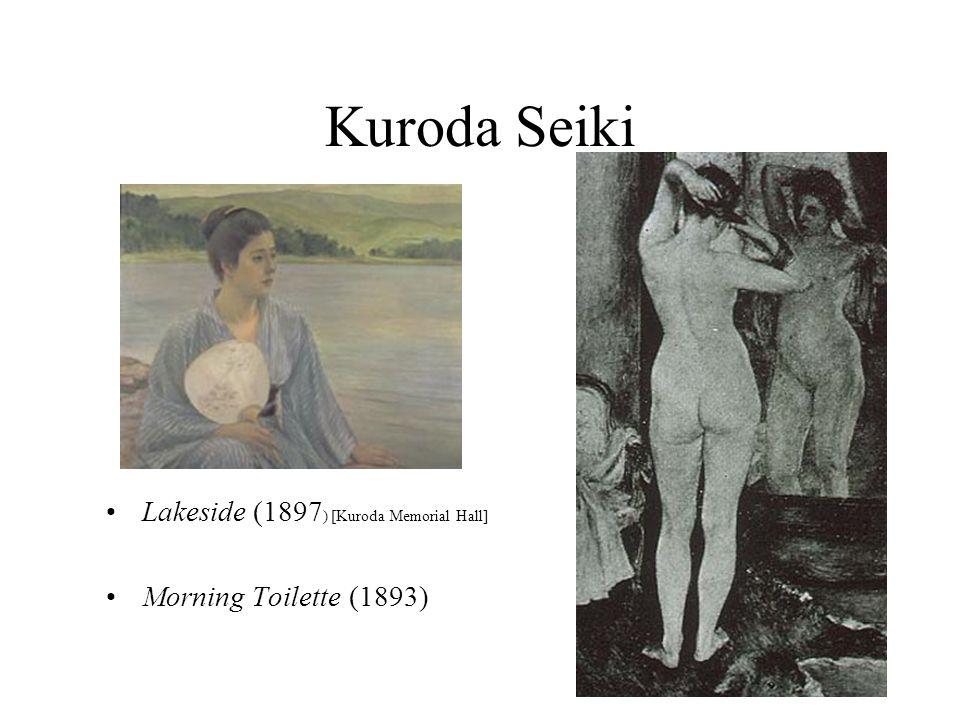 Kuroda Seiki Lakeside (1897 ) [Kuroda Memorial Hall] Morning Toilette (1893)
